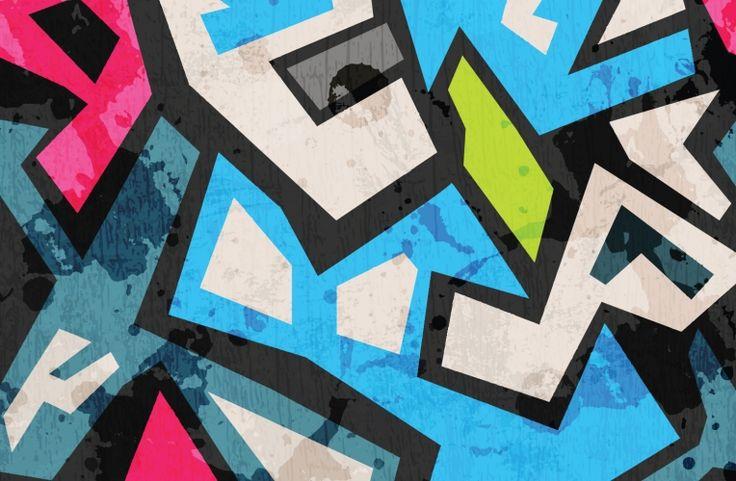 Jagged Colourful Graffiti Wallpaper Wall Mural   MuralsWallpaper.co.uk