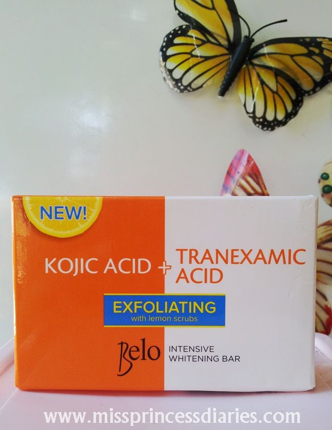Review: Belo Intensive Whitening Bar: Kojic acid + Tranexamic acid with exfoliating lemon scrubs