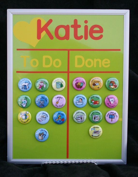 Magnetic child's chore chart