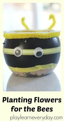 A fun way to plant seeds in the spring, make a little craft and learn about bees.
