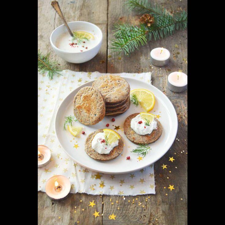 Blinis de sarrasin vegan et cheese cream