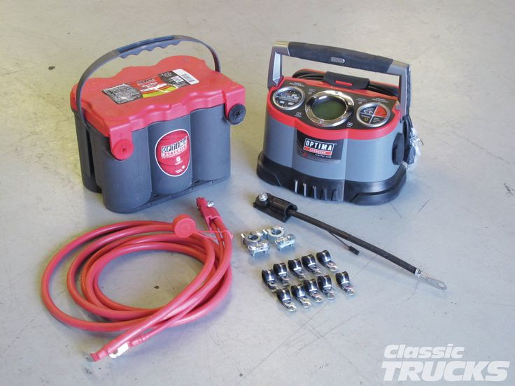 #Optima Red Top #Battery Relocation: The Positives & Negatives - Battery Relocation & Preventive Maintenance - Full Tech Article Here: http://www.classictrucks.com/tech/1303clt_optima_red_top_battery_relocation/