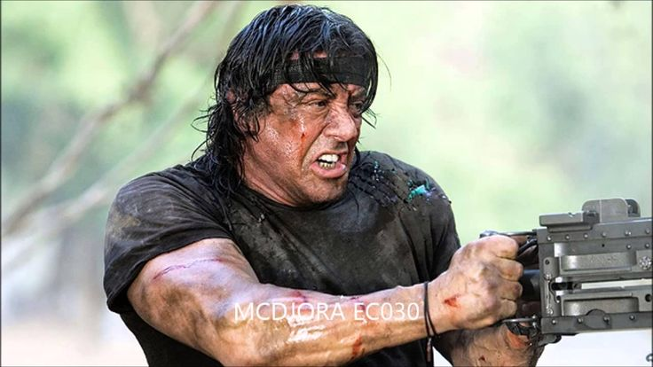 John Rambo, Rambo film series. Half-German, half-Navajo veteran of the Vietnam War, but his heritage is never directly dealt with. Problematic soldier portrayal.