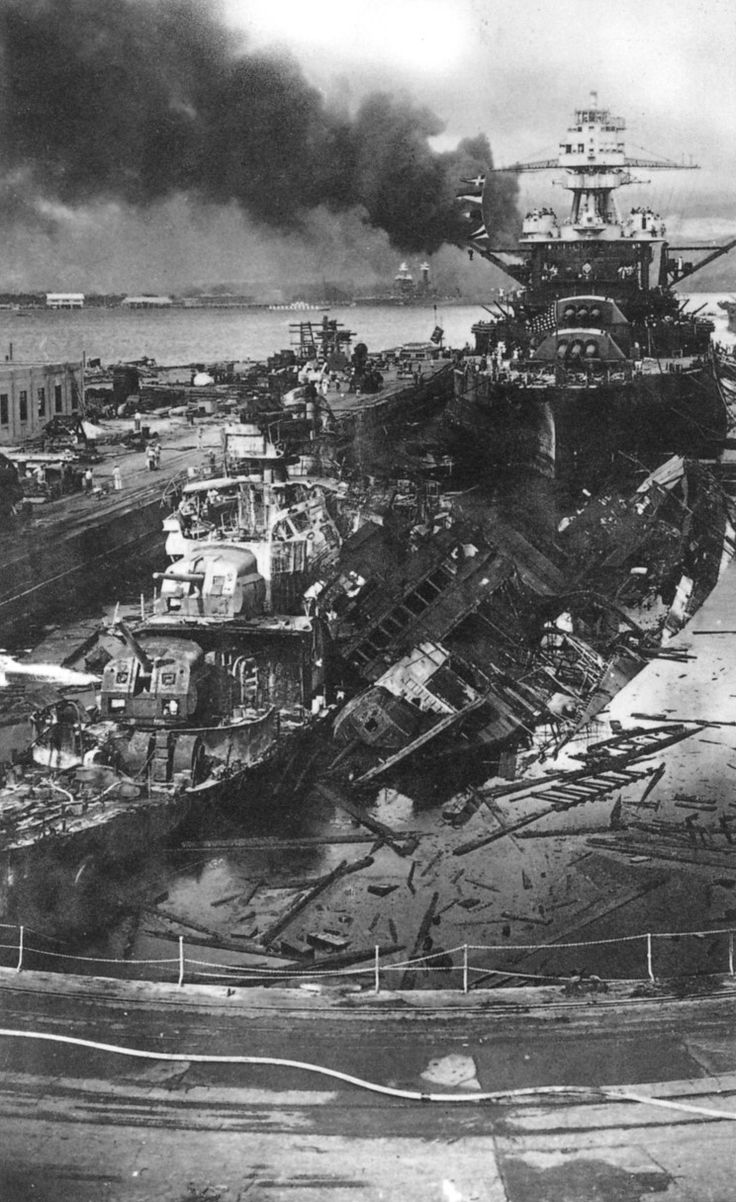 This gruesome photo shows the bombing at pearl harbour December 7th 1941, this event lead to Americas entry in the second world war. 2,403 people died from this attack, this affected Canada because of its close proximity to the U.S. Which means, there would be impacts of this on Canadians and their lives.