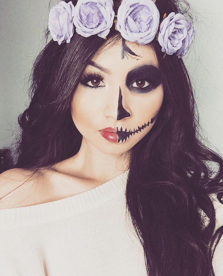 skull candy halloween makeup wwwinstagramcomkimberlyx3you - Skull Halloween Decorations