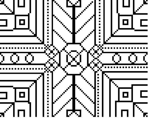 Unique geometric black and white cross stitch pattern #crossstitch