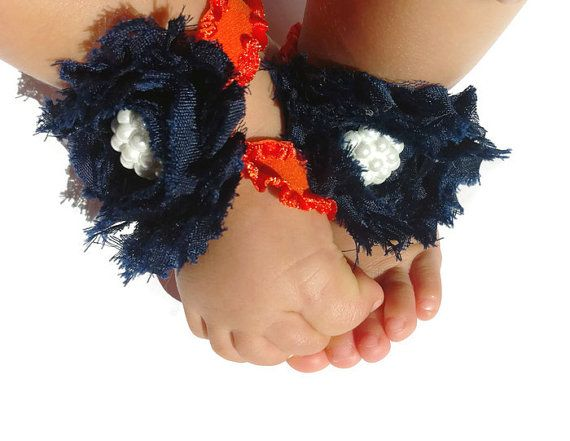 Chicago Bears Baby Barefoot SandalsChic Little by ChicLittleFeet, $9.95