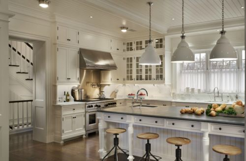 john b. murray: Ideas, Dreams Kitchens, Kitchens Design, White Kitchens Cabinets, Kitchens Islands, Kitchens Pendants, House, Open Kitchens, Stools