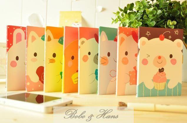New Cute cartoon animals type Diary
