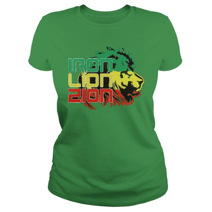Reggae Iron, Lion, Zion, music, song quote, Jamaican flag colors 2 sides print