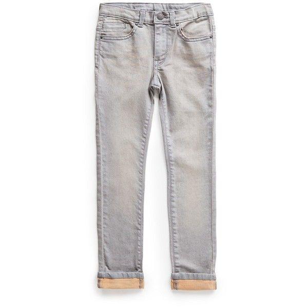 MANGO Slim-fit grey jeans (€33) found on Polyvore