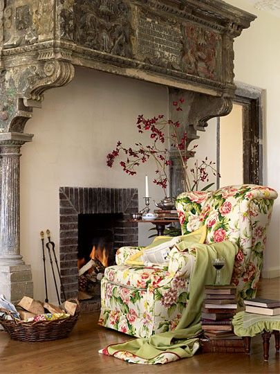 love the mantle and fireplace
