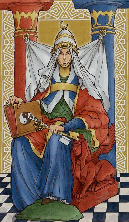 The High Priestess - Universal Wirth Tarot