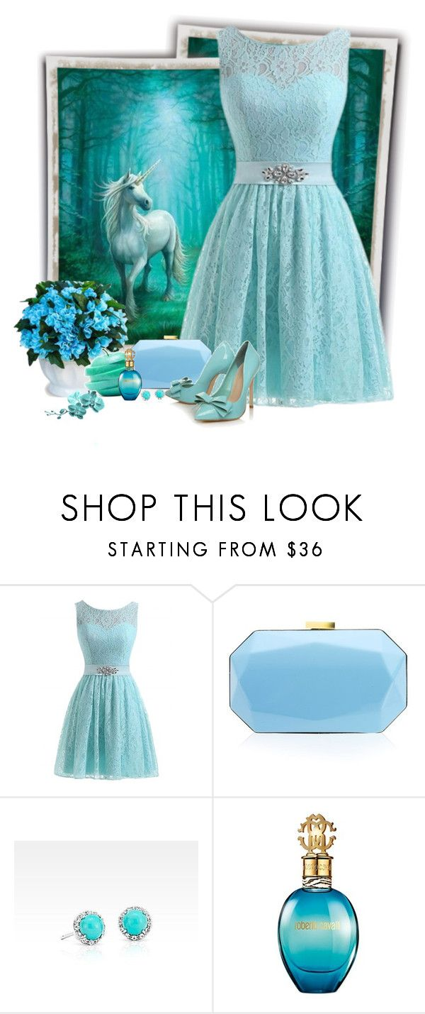"""""""Unicornio"""" by sil-engler ❤ liked on Polyvore featuring Lipsy, Carvela, Blue Nile and Roberto Cavalli"""