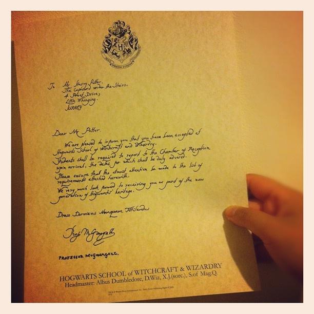 Harry's letter invitation to Hogwarts!!  #HarryPotter #Potter #JKRowling #Hogwarts #HarryPotterExhibition #HPExhibition #letter #invitation