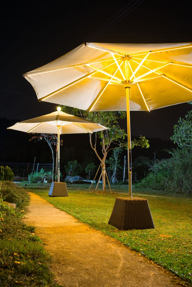 #LED #Parasol #NightOut & 19 best Parasols images on Pinterest | Outdoor lighting Exterior ...