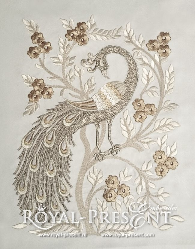 Machine Embroidery Design - Peacock (4 in1) | Oriental- Royal Present Embroidery