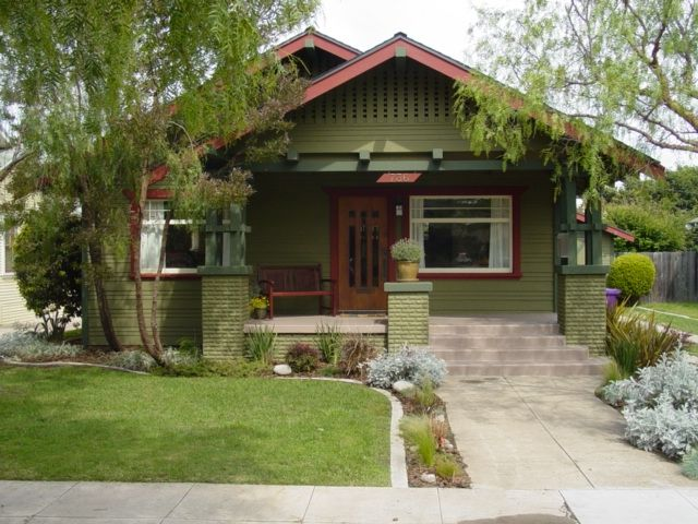 Classic Bungalow In The Rose Park Historic District Of Long Beach CA Craftsman Style BungalowBungalow HomesBungalow