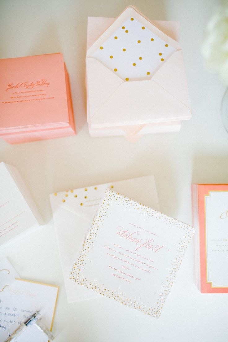 polka dotted stationery