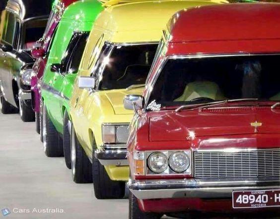 ◆ Visit MACHINE Shop Café... ◆ ~ Aussie Custom Cars & Bikes ~ All the Holden Panel Vans Line-up