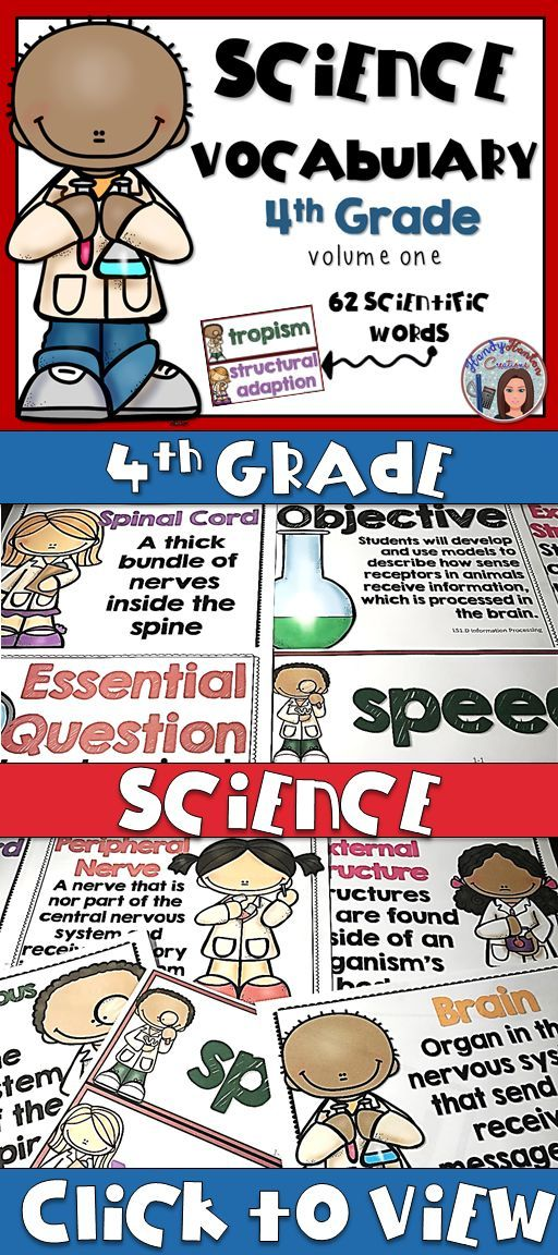 4th grade science vocabulary signage for your upper elementary classroom. Include 62 scientific words, 10 objectives and 10 Essential questions.