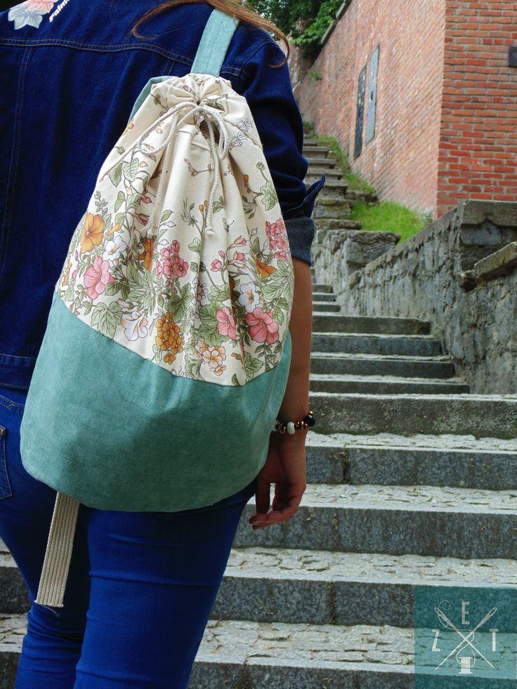plecak kwitowy miętowy #bag #plecak