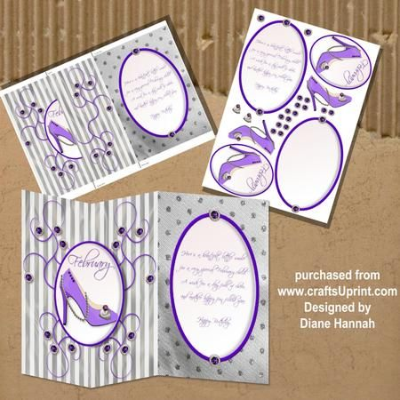 February Birthday Fold Back on Craftsuprint - View Now!