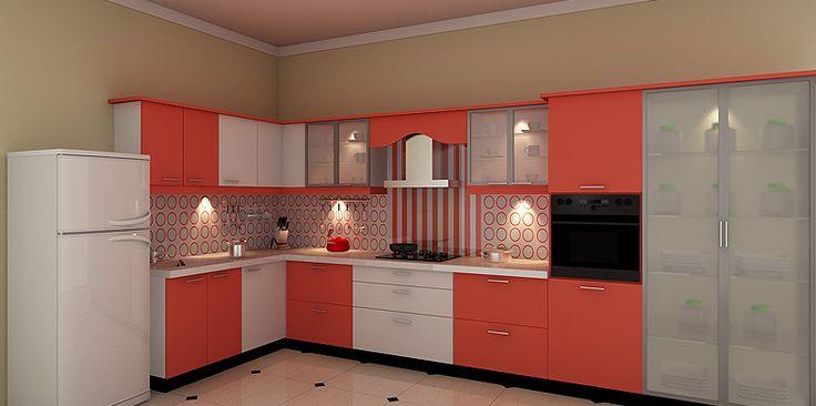 I Shaped Modular Kitchen Design Designer By Design Indian Kitchen Company C