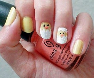 Chicks nail art