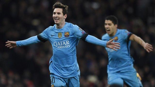 Messi gol Barcelona x Arsenal (créditos: Reuters)