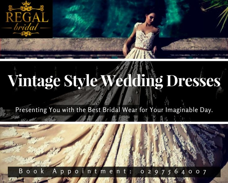 Look Most #Stylish and #Happening on Your Special Day in #Vintage Style #Weddindress- Regal Bridal #Bridaldress #Bridalwear #weddingGown