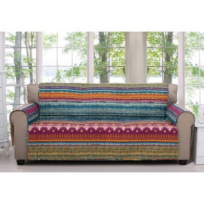 Greenland Home Fashions Southwest Quilted Furniture Protector Size: Sofa