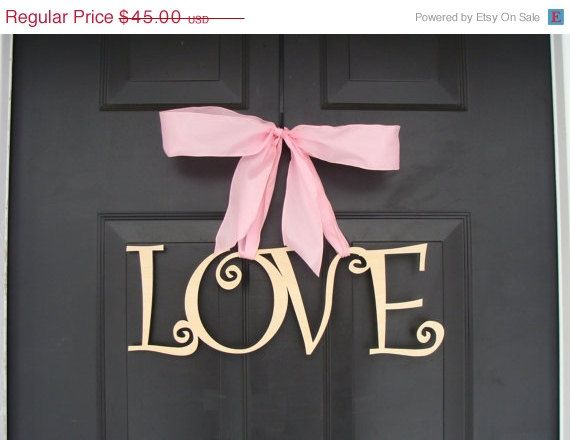 MOVING SALE, ENDS 1/20 Love Wooden Letters, Valentine's Day Decor, Valentine's Day Wreath, Wedding Sign, Wood Sign, Door Decoration, Wedding