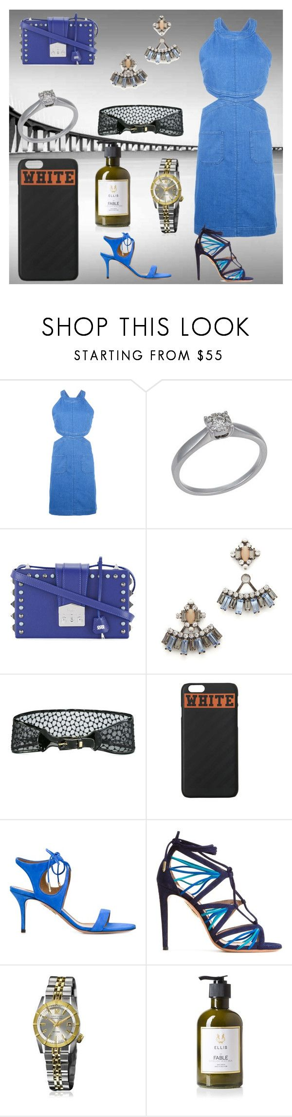 """Nice sale offer"" by denisee-denisee ❤ liked on Polyvore featuring STELLA McCARTNEY, Bliss by Damiani, SALAR, DANNIJO, Yves Saint Laurent, Off-White, Aquazzura, March LA.B and Ellis Brooklyn"