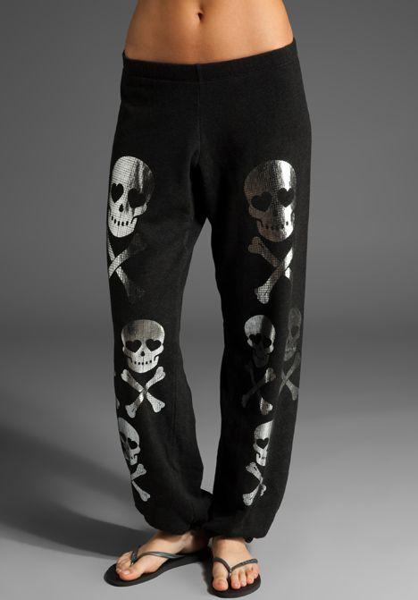 Wildfox Couture skulls sweatpants<3