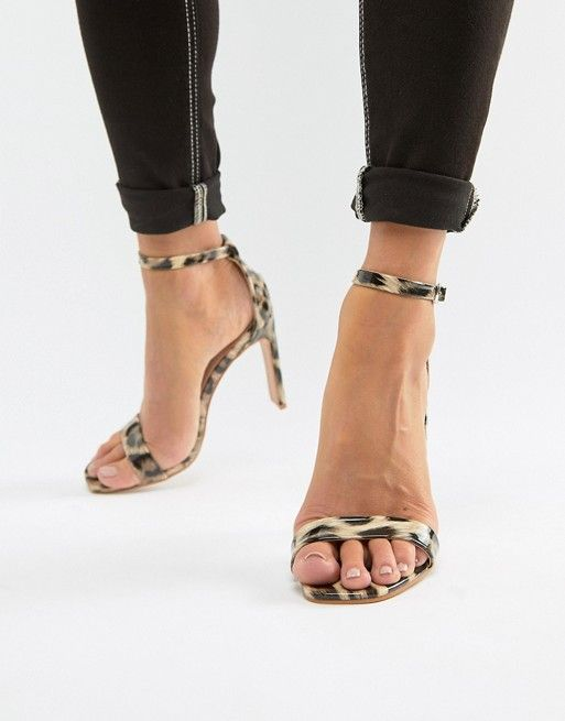 6c6bc88cec70df Glamorous - Sandali effetto nudo con tacco e stampa maculata | Wardrobe |  Sandals, Fashion, Shoes