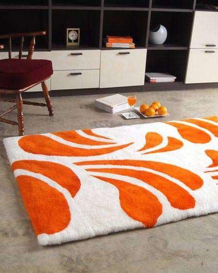 Peach Designer Rug