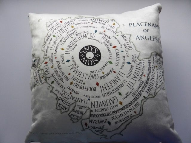 Anglesey map on a plush cushion (yes I do sell these)