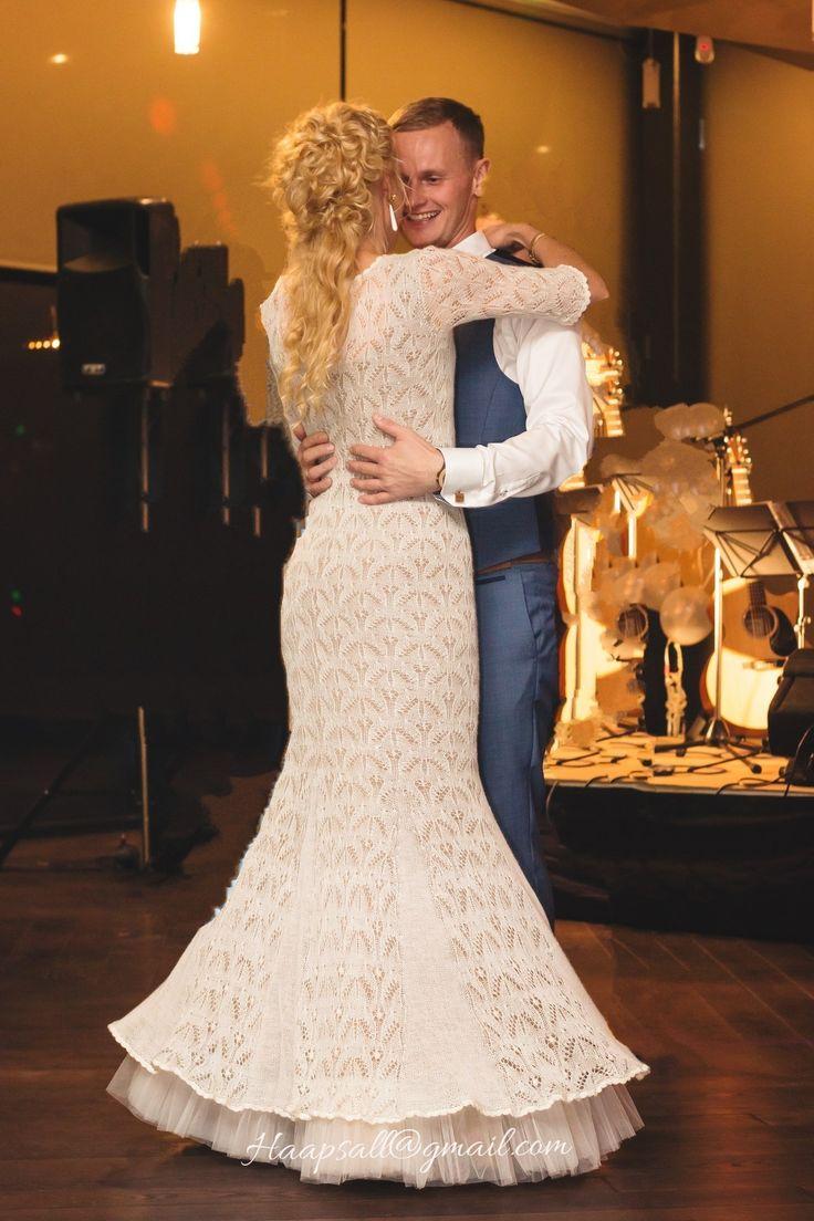 Very exclusive handknitted wedding dress, knitted by Ivika Viljasaar