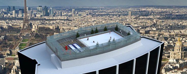 Une patinoire éphémère perchée à 210 mètres au-dessus du sol à Paris