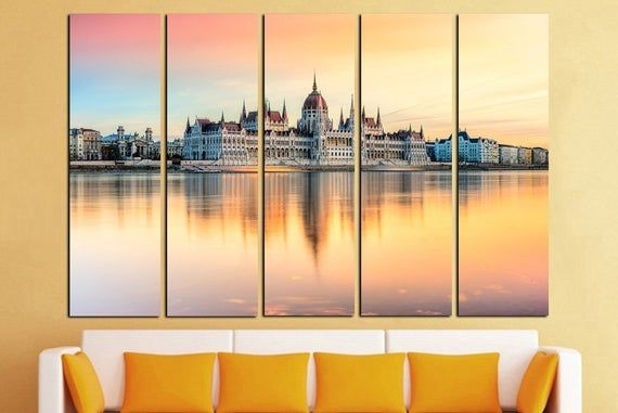 Hungary Giclee Canvas Picture Poster Art Budapest Houses of Parliament