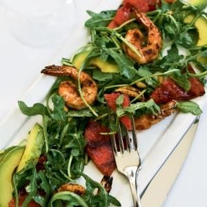 Andrea Lever Upchurch's Grilled Watermelon & Shrimp Salad with ...
