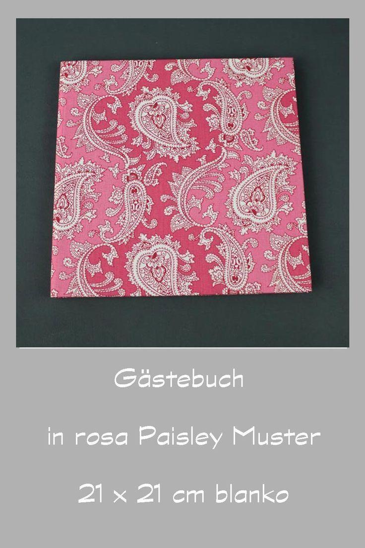 Altrosa Gemustertes Gastebuch Mit Paisley Muster In 2020 Paisley Altrosa Rosa
