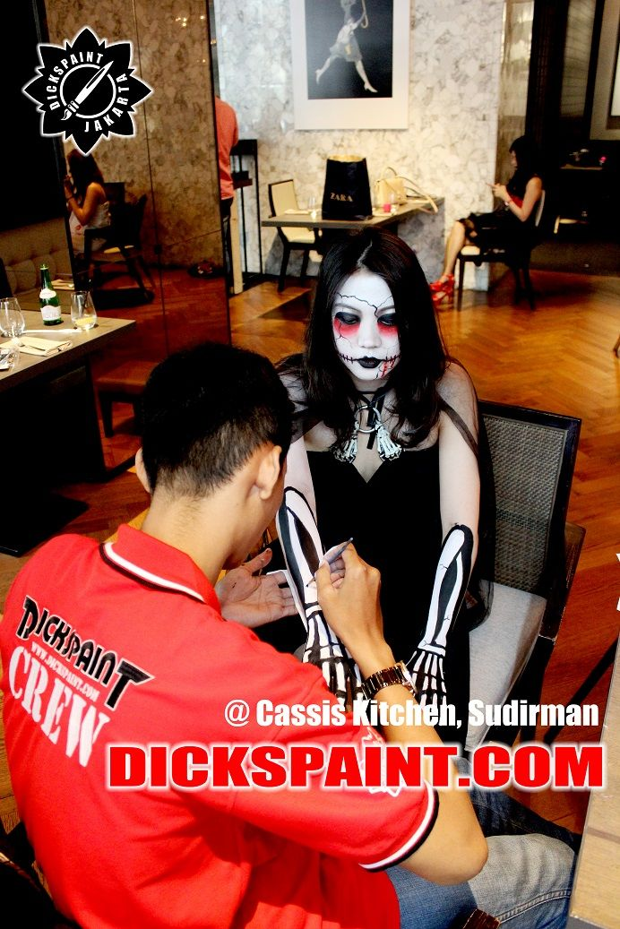 Client : Cassis Kitchen Halloween make Up 2015    #‎facepaintingjakarta‬ ‪#‎makeuphalloweenjakarta‬ ‪#‎makeuphorrorjakarta‬ ‪#‎makeupjakarta ‪#‎makeupzombiejakarta‬ ‪#‎zombiedeath‬ ‪#‎walkingdeath‬ ‪#‎dickspaint‬ ‪#‎facepaintinghalloweenjakarta‬ ‪#‎facepaintinghorrorjakarta‬ ‪#‎skullface‬ ‪#‎makeupskull‬ ‪‬ ‪#sugarskull #sugarface
