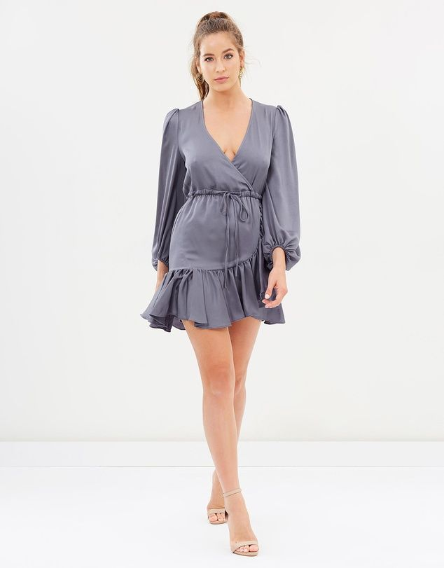 8ba9c329444f Shona Joy - Anna Puff Sleeve Drawstring Mini Dress | Iconic ...
