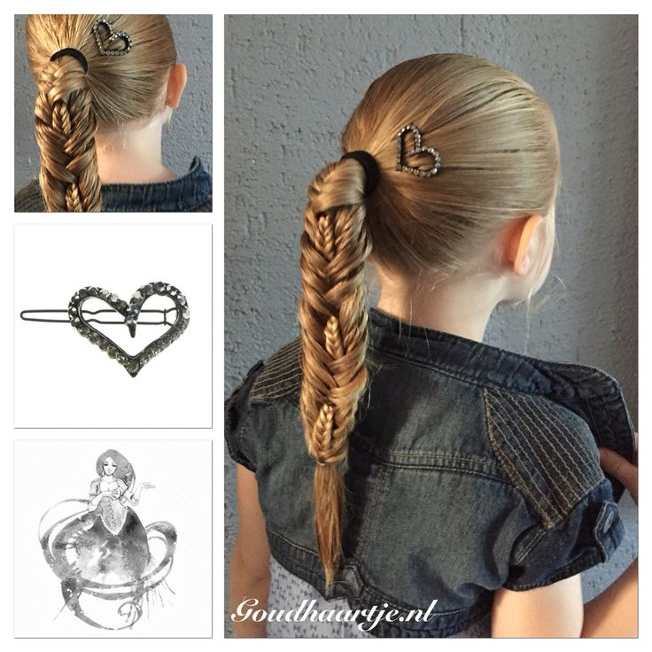 Double fishtail stitched braid with pretty hairclip from Goudhaartje.nl #fishtailbraid #braid #stitchedfishtailbraid #hairclip #hairstyle #hairaccesories #vlecht #vissengraatvlecht #haarclip #haaraccessoires #haarstijl #goudhaartje
