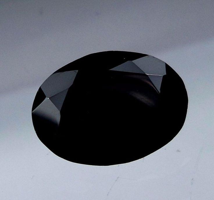 Natural Faceted Black Spinel Oval Shape 7.4 Carat 13.8x9.9x6.6 MM Loose Gemstone #Unbranded