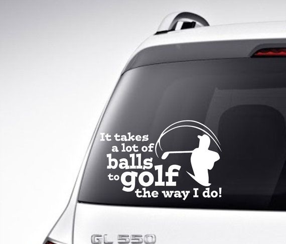 Golf vinyl car decal vinyl lettering bumper by vinyldecorboutique