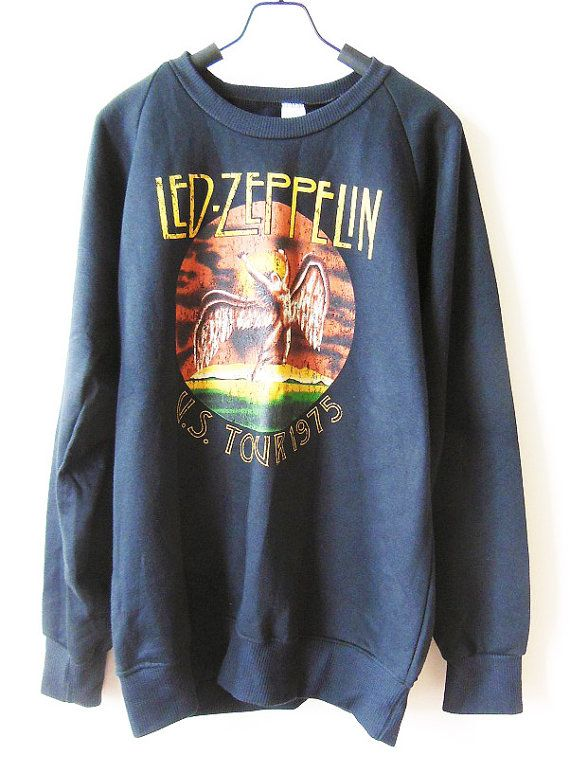 SIZE L  Led Zeppelin Shirts Heavy Metal Rock by cottonclick, $23.99