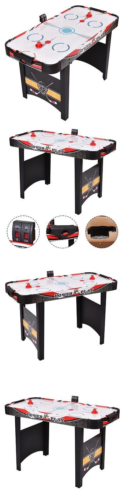 Air Hockey 36275: Electronic 48Air Powered Hockey Table Sports Game Scoring Red Puck Kids Indoor BUY IT NOW ONLY: $76.19